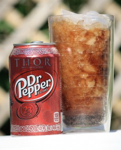Dr Pepper over Crushed Ice