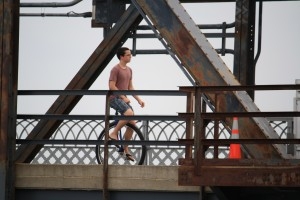 Unicycle on the bridge