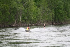 Wake Board Behind Jet Ski