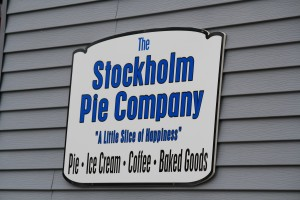Stockholm Pie Company Sign