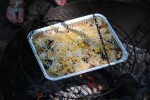 Sprinkle shredded cheese on top.