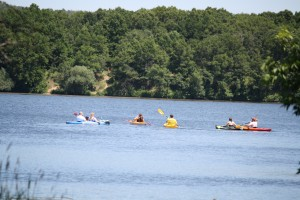 Kayakers on Little Falls Lake at Willow River State Park