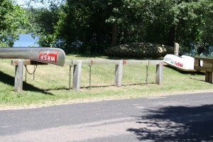 Canoes and Kayaks for rent at the boat launch