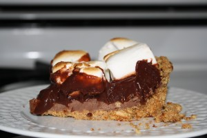 Slice, dish, and enjoy your Smores Pie!