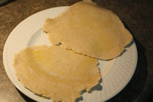 Preheat grill or griddle to medium high heat.  Brush flatbread with olive oil.
