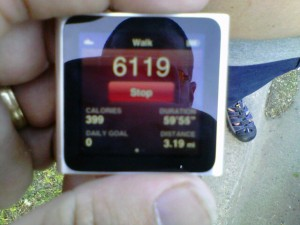 iPod Nano after my first walk using Nike+