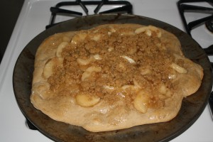 Apple Cinnamon Dessert Pizza