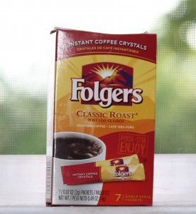 Single serve instant coffe packets