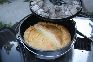 Dutch oven calzones