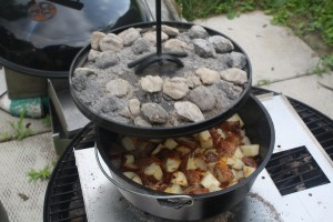 Cheesy Bacon Ranch Dutch Oven Red Potatoes