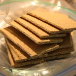 Place 12 graham crackers into large zip top bag and crush to a powder.